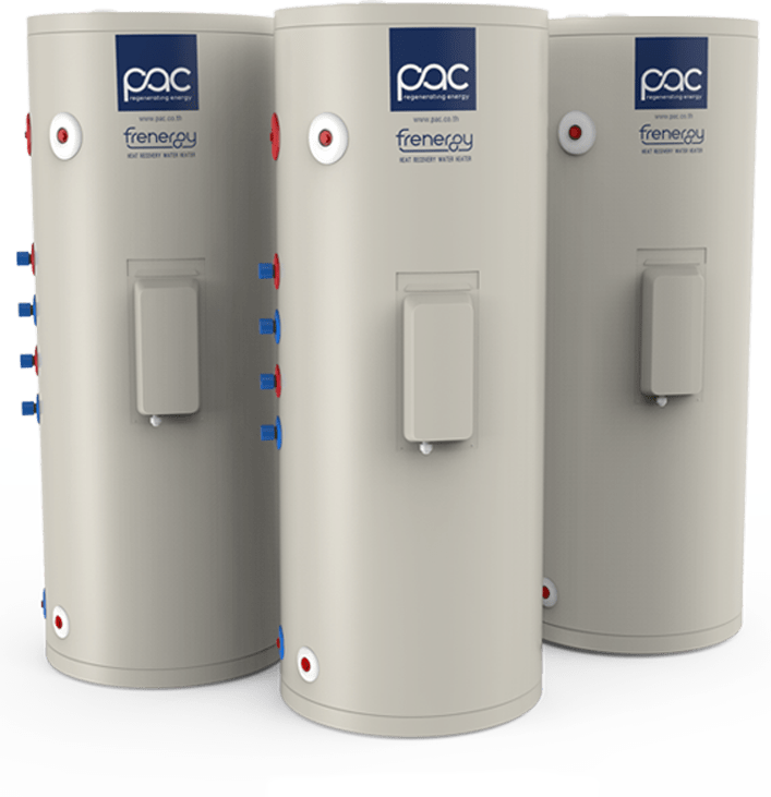 PAC Frenergy - water heater from air conditioner for business and household in Thailand