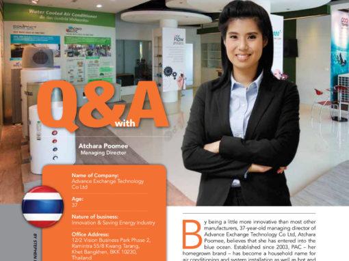 บทสัมภาษณ์คุณอัจฉรา ปู่มีในนิตยสาร Asean Community of Entrepreneurs
