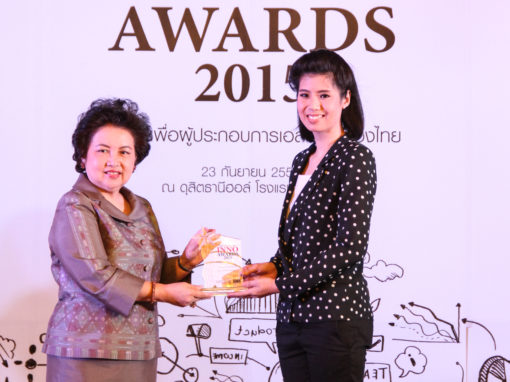 PAC SolarAire received the award for outstanding eco-friendly product from SME Thailand Inno Awards 2015
